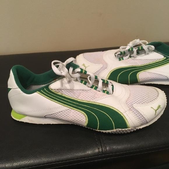 49fe9f57cf3 Puma Shoes | Womens Green White Track Size 75 | Poshmark
